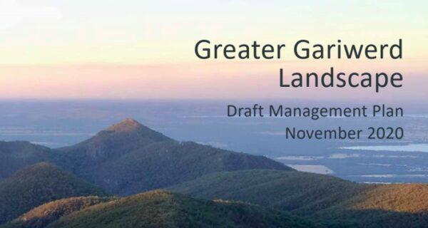 Gariwerd landscape management plan submission